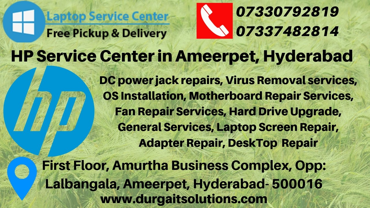 HP service center in Ameerpet, Hyderabad - AdTrack